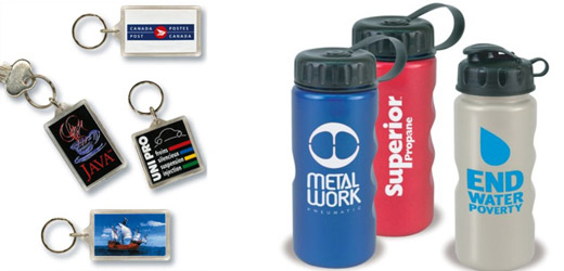 Custom Keychains and Waterbottles