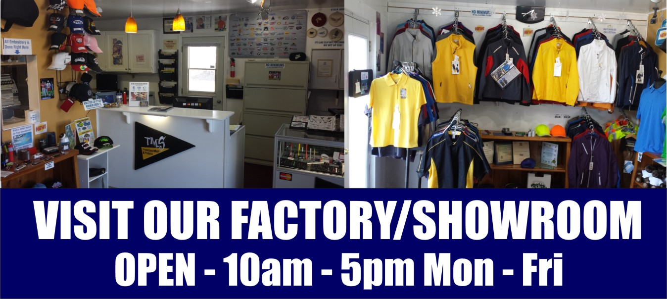 Visit our Factory Showroom Front Page